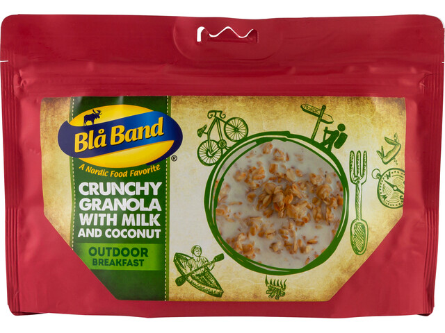 Blå Band Outdoor Breakfast Crunchy Granola with Milk and Coconut